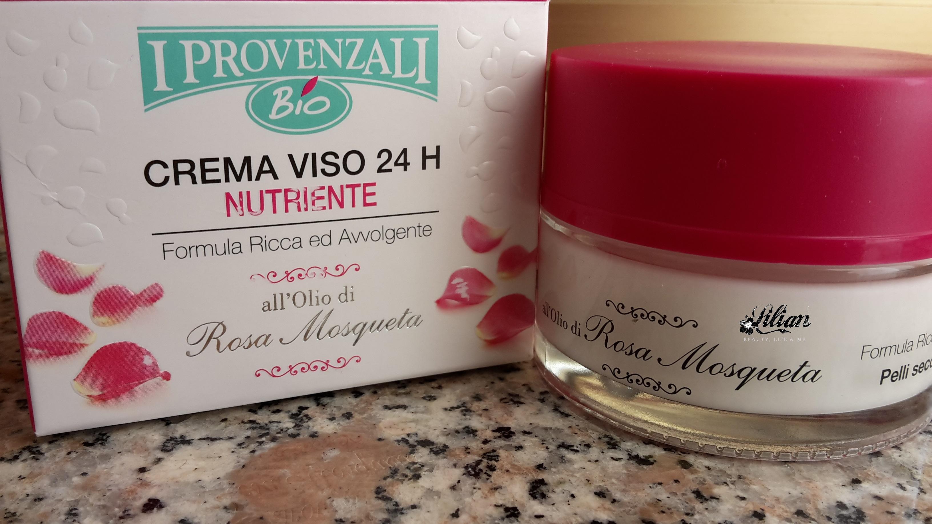 Crema viso nutriente all'olio di rosa Mosqueta de I Provenzali